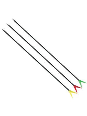 DAM Bankstick Set, Rutenhalter, Erdspeer, 80cm, grün rot gelb