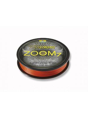 Cormoran Corastrong ZOOM7 orange 0,30mm 31kg 100m - rund geflochtene Coramidschnur