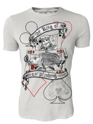Hotspot Design Angler T-Shirt The King of Carpfishing, Poker Kollektion Shirt, Gr. M