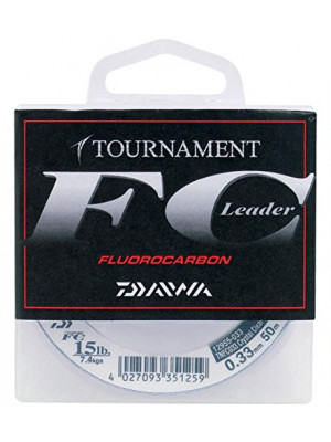 Daiwa Tournament Fluorocarbon, 50m, 2.9kg, 0.20mm, monofile Angelschnur