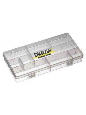 K-DON Gerätebox Modell 1006, Kleine transparente Köderbox, 23 x 12 x 3.5cm