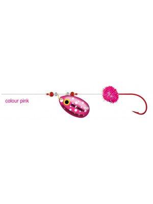 Cormoran Big Trout Schlepprig, pink, 200cm, Gr. 10, DM 0.2mm, 2 Stk