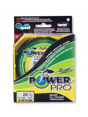 Power Pro Super Line 275m 0,19mm 13kg, gelb - geflochtene Angelschnur