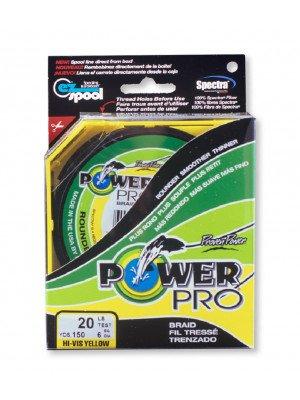 Power Pro Super Line 275m 0,23mm 15kg, gelb - geflochtene Angelschnur