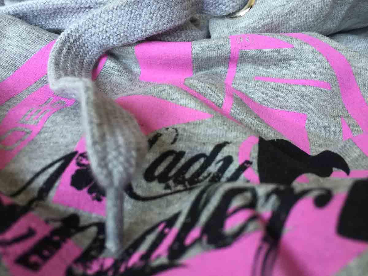 Hotspot Design Sleeveless Hoody-Lady Angler,Ärmelloser Kapuzensweater,grau rosa Pullover & Sweaters Bekleidung